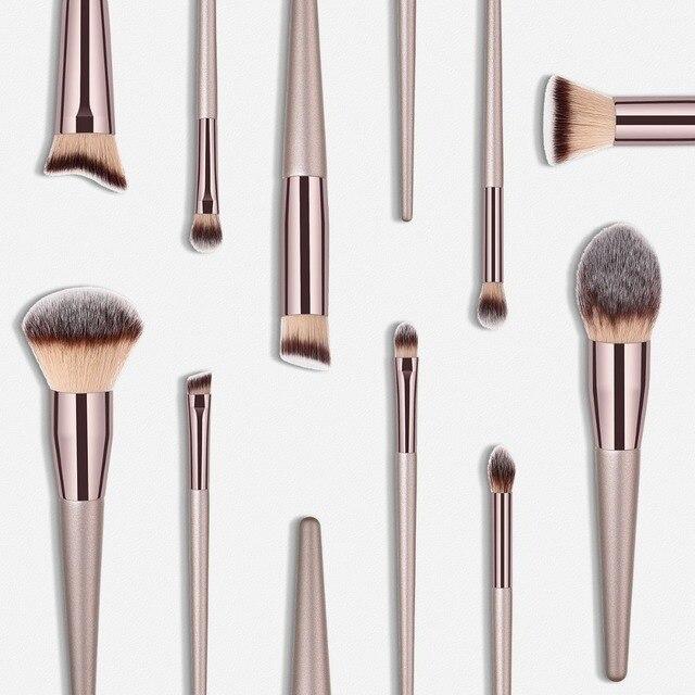 Luxury Champagne Makeup Brushes Set For Foundation Powder Blush Eyeshadow Concealer Make Up Brush Cosmetics Beauty Tools 2