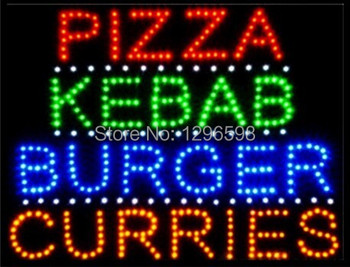 CHENXI Special Offer Hot Sale custom Graphics 15mm indoor Ultra Bright 19X19 Inch pizza/kebab/burger/curries store sign of led-