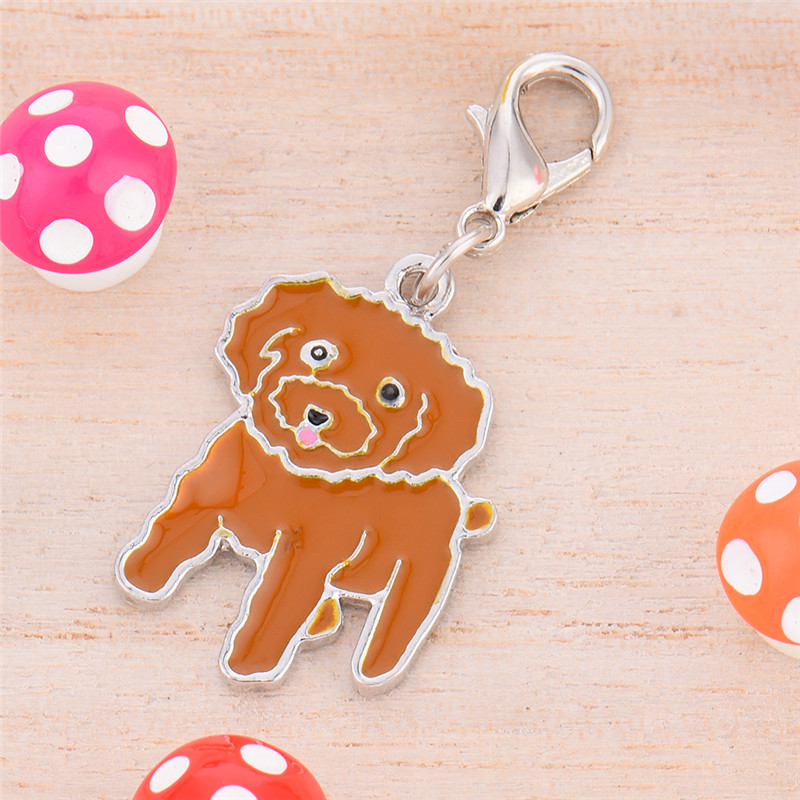 Metal Durable Dog Teddy Style Pet Pet Decorations Key Ornaments 2 * 2.5 cm 1pcs