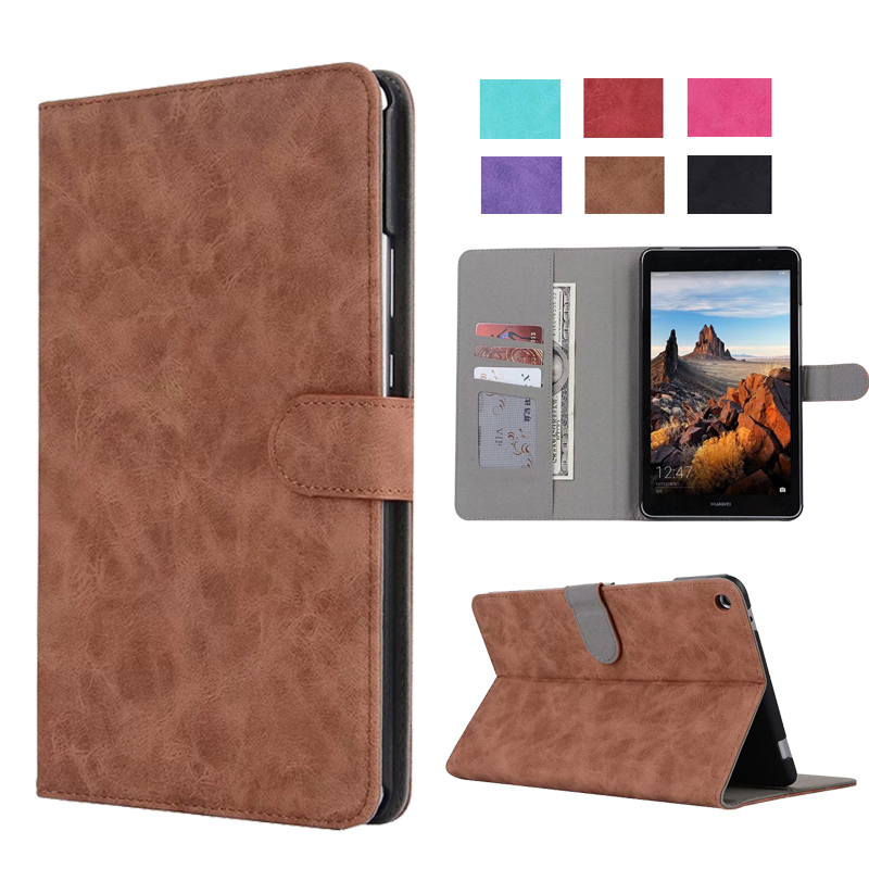 Retro PU leather folio stand cover case for Huawei MediaPad T3 8.0 KOB-L09 KOB-W09 for 8'' Tablet PC for Honor Play Pad 2 8.0 folio slim cover case for huawei mediapad t3 7 0 bg2 w09 tablet for honor play pad 2 7 0 protective cover skin free gift