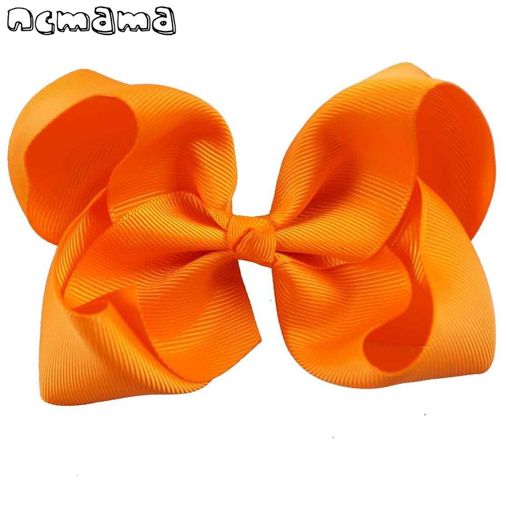 2 Teile/los 5 Zoll 40 Farben Große Haar Bögen Solide Weiche Haarnadeln Mit Clip Ripsband Haarspangen Für Kinder Haar Zubehör