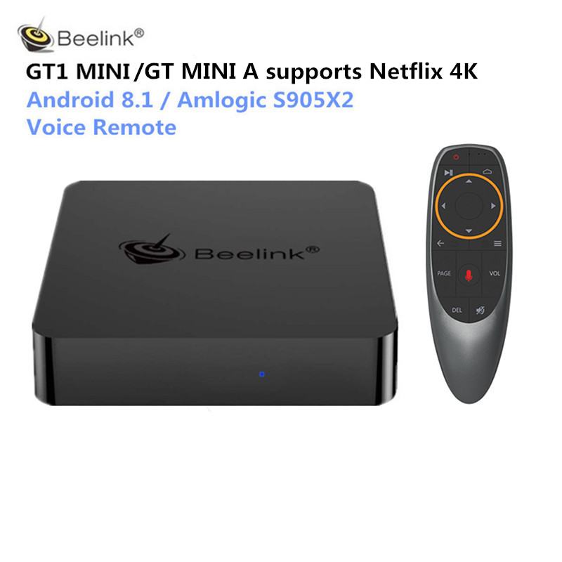 Beelink GT1 MINI GTmini A Smart TV Box Android 8.1 Amlogic S905X2 Voice Remote Set Top Box 4K 1000M Bluetooth Media Player