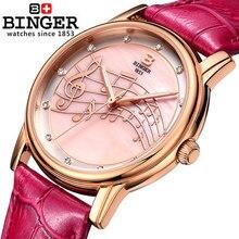 2016 Летние Каникулы продажа Бингер новое прибытие Симпатичные часы Офисный работник Часы Леди женщины моды кристалл платье кварцевые наручные часы