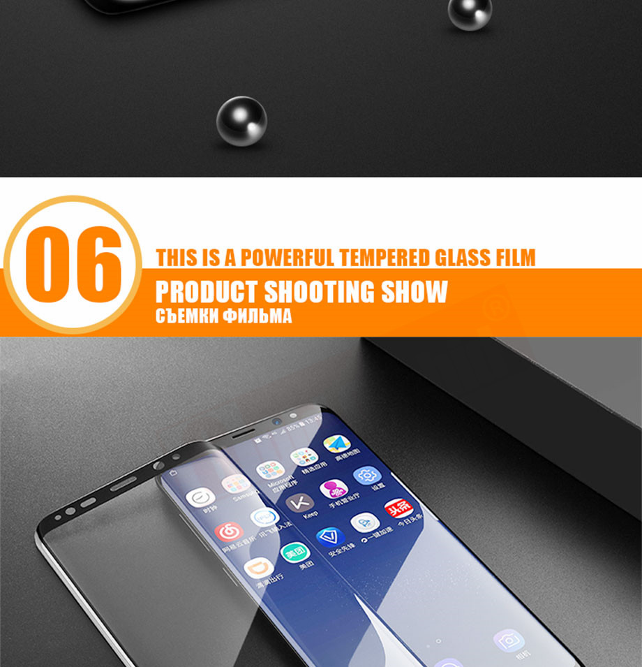 12-PC-For Samsung Galaxy S8 Tempered Glass