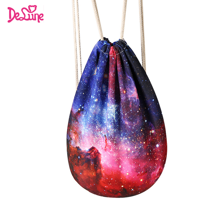 Factory Travel Backpack Boys Girls Character School Shoes Bags Shoulder Starry Sky Print collect Bags Towel Schoolbags Backpacks