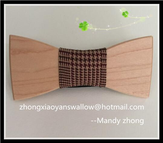 bfa98f405 New Hot Sale Europeia Moda Mens gravata Acessório de Madeira gravata  borboleta para festa de casamento