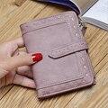 Moda mulheres carteira nova chegada de alta qualidade PU mulheres bolsa Carteira de couro curto carteira hasp & zipper