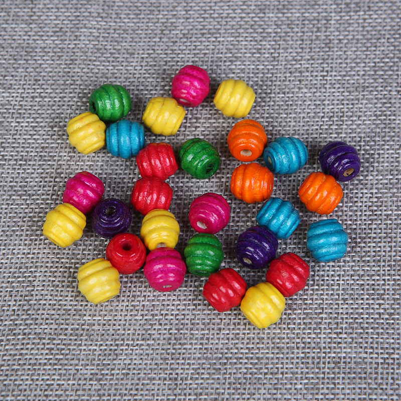 100pcs 8mm dyed black round abacus lead free wood wooden beads jewellery making