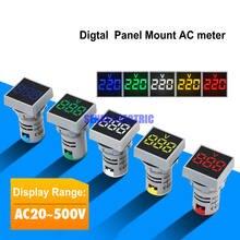 Ac24  500v 22 мм крепление квадратный светодиодный Дисплей Цифровой