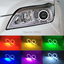 Para Lifan X60 2011 2012 2013 2014 2015 Excelente Angel Eyes kit Ultrabright 7 Colores Multi-Color RGB LED Angel Eyes Anillos de Halo
