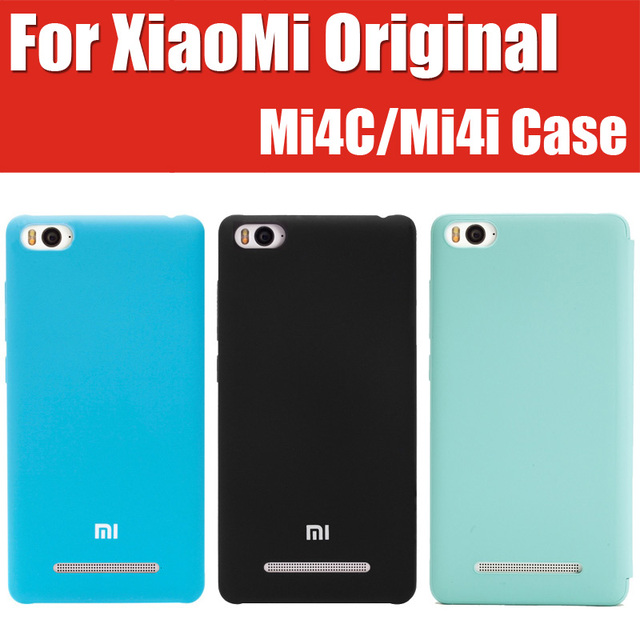 CN0922 in stock android prince it's official original mi 4c smart leather covers for xiaomi mi4c case mi4i anti-skid