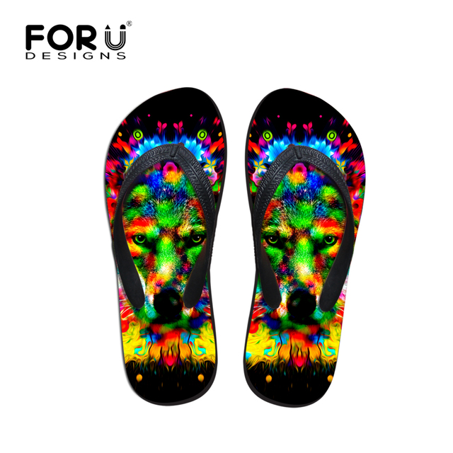 340468cf38 2017 New Brands Men's Summer Flip Flops Fashion Leisure Beach Shoes Man Boys  Sandals Casual Colorful Animals Print Sandals