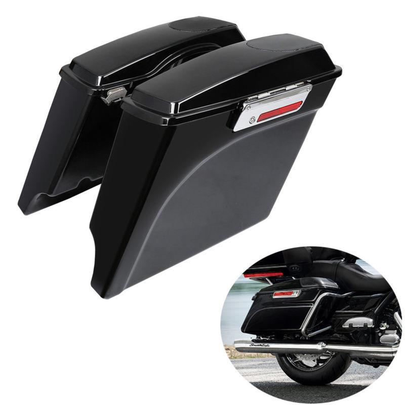 ABS 5 Étiré Sacoche W/5x7 Haut-Parleur Couvercles Pour Harley Touring FLT FLHT FLHTCU Street Glide road King 1993-2013