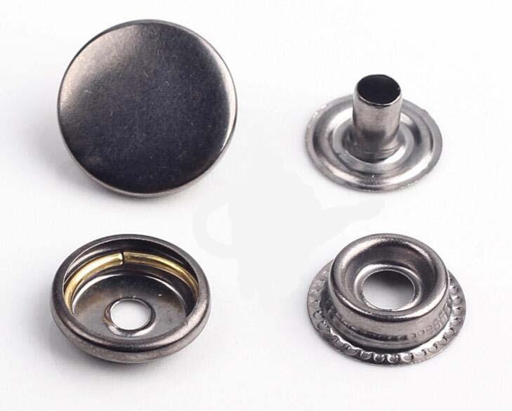 Fermoir bouton attache en fer 15mm 20 sets métal bronzé boutons pression
