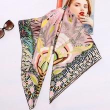 高スタイル花柄正方形 100% シルクツイルスカーフラップ女性ヘッドスカーフヒジャーブショールスカーフ 88*88 センチメートル