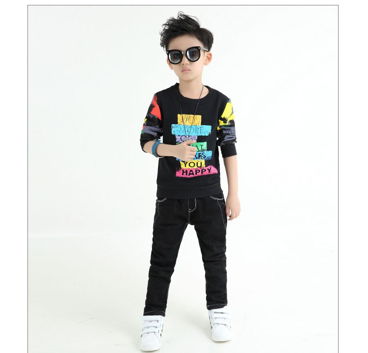 fashion casual new arrival 2017 camouflage patchwork children tops tees boys long sleeve t shirts kids clothes new 2017 spring autumn teenager boys kid t shirt clothes  (9)
