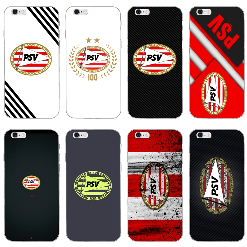 For IPhone X XR XS Max 8 7 Plus 6s 6 Plus SE 5s 5c 5 4s 4 IPod Touch Case PSV Eindhoven Soccer Logo Soft Phone Cover