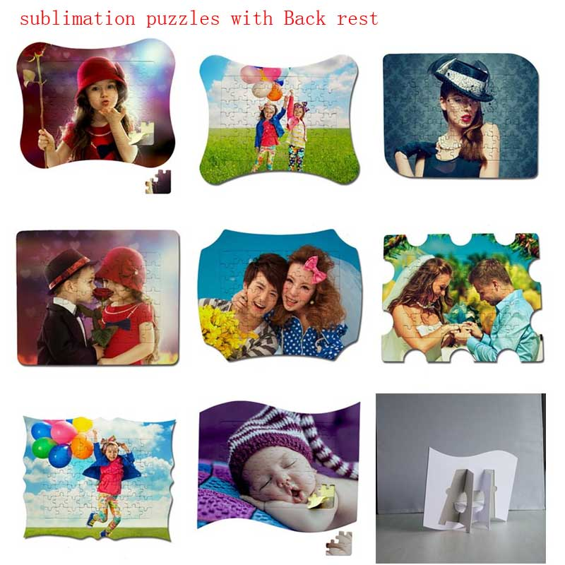 New Style Sublimation Blank Item Product With Back Rest   Hot Heart Transfer Printing Diy Custom Consumables 8pieces 8pcs/lot