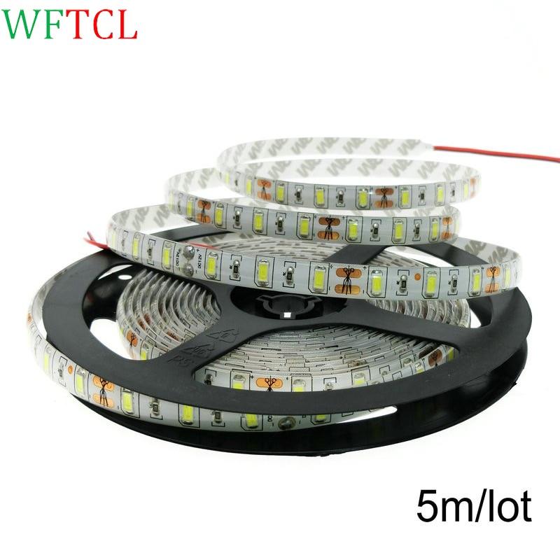 5M SMD 5630 LED Strip light 60LED/M 12V Decor LED lamp Tape lighting String More Bright 3528 5050 2835 3014