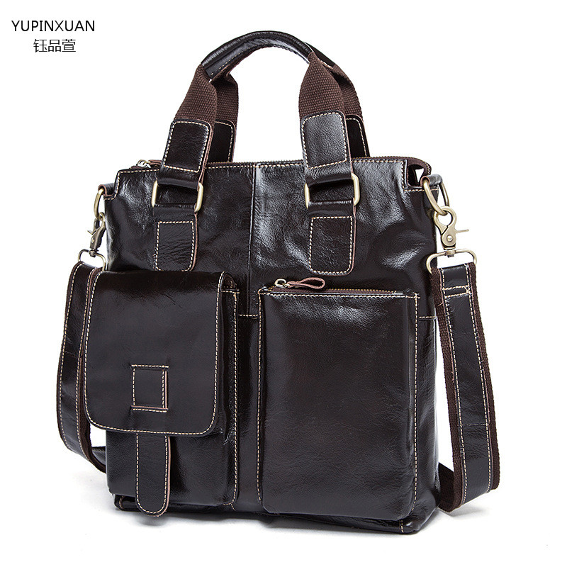 ФОТО YUPINXUAN Men messenger bags luxury genuine leather men bag designer high quality shoulder bag casual zipper office bags for men
