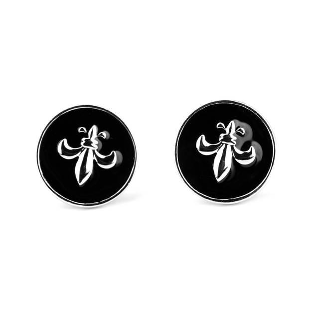 42bb2c1653b2c top design TV jewelry Sparta Warrior Shield Pattern Cuff Links Black Enamel  Shirt Brand Cuff Buttons Jewelry Men Christmas gift