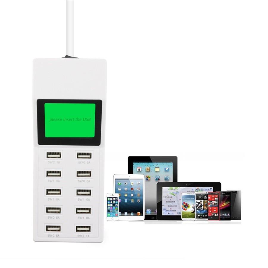 10 אוניברסלי יציאת USB, מסך תצוגה אותנו האיחוד האירופי, בריטניה תקע נסיעות מתאם ה AC-לשקע חכם מטען קיר עבור טלפון, מחשב לוח מצלמה