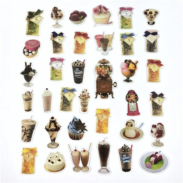 1 пакет, милые Мультяшные декоративные наклейки в Корейском стиле, клейкие наклейки, скрапбукинг, сделай сам, декоративные наклейки для дневника - Цвет: 22