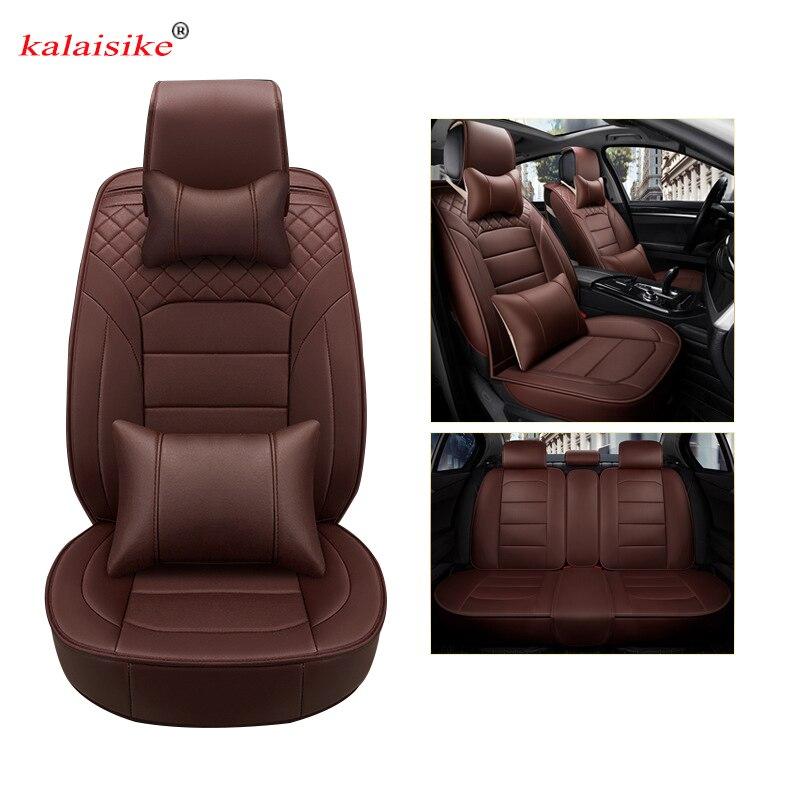 kalaisike leather universal car seat covers for Nissan all models note qashqai almera x trail leaf teana tiida altima juke