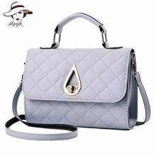 small flap Water drop lock solid mini casual fashion ladies shoulder bag women leather handbags famous brands messenger bags