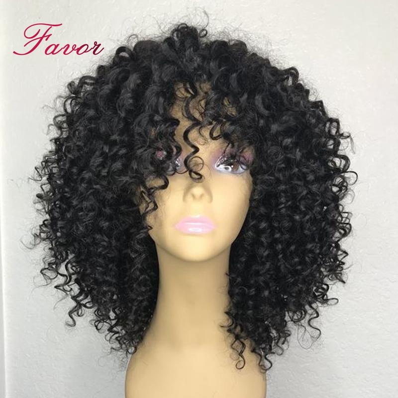 Curly Short Lace Front Human Hair Wigs With Baby Hair 13x6 Brazilian Remy Hair Bob Wigs