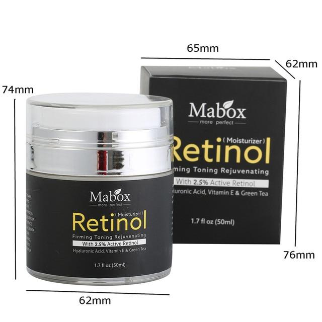 Retinol 2.5% Moisturizer Face Cream Vitamin E Collagen Retin Anti Aging Wrinkles Acne Hyaluronic Acid Green Tea Whitening Cream 5