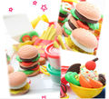New Arrival Burger Set Plasticine to Play,Creative Play Doh Plasticine for Children Christmas Gift