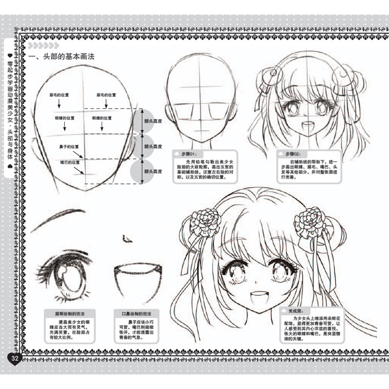 New Learn To Draw Anime Girl Head And Body From Scratch Hand Drawn