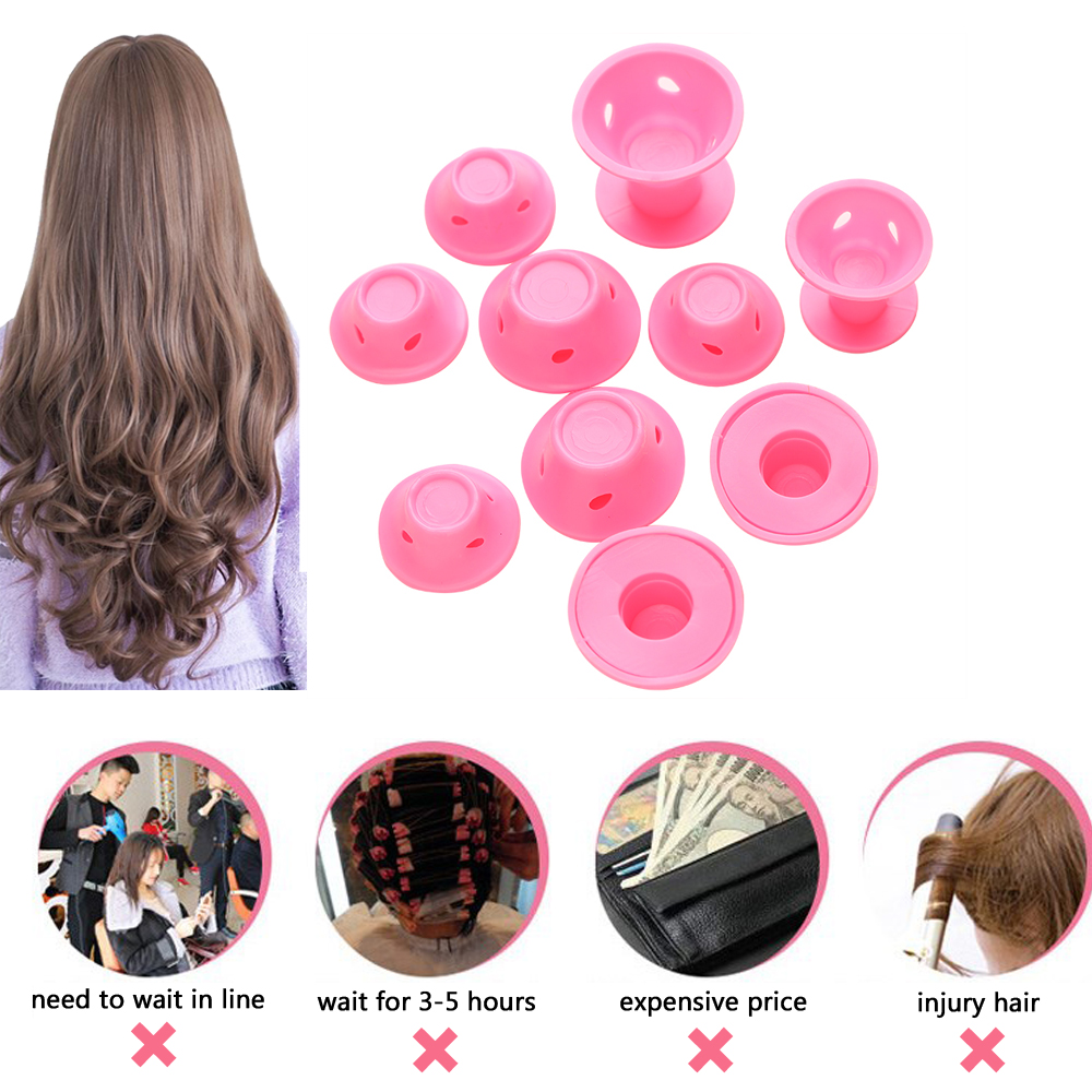 Image 5 - 10/20pcs/set Magic Hair Care Rollers for Curlers Sleeping No Heat Soft Rubber Silicone Hair Curler Twist Hair Styling DIY Tool-in Hair Rollers from Beauty & Health