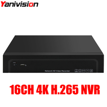 16Channel H.264/H.265 CCTV NVR Max 4K Output 16CH 8MP/5MP/3MP/1080P Surveillance Network Recorder for IP Camera Onvif