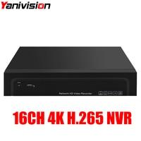 4 8 16 Channel H 264 H 265 CCTV NVR Max 4K Output 4CH 8CH 16CH