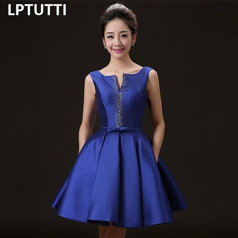 LPTUTTI Crystal Satin New Sexy Woman Plus Size Social Festive Elegant Formal Prom Party Gowns Fancy Short Luxury   Cocktail     Dress