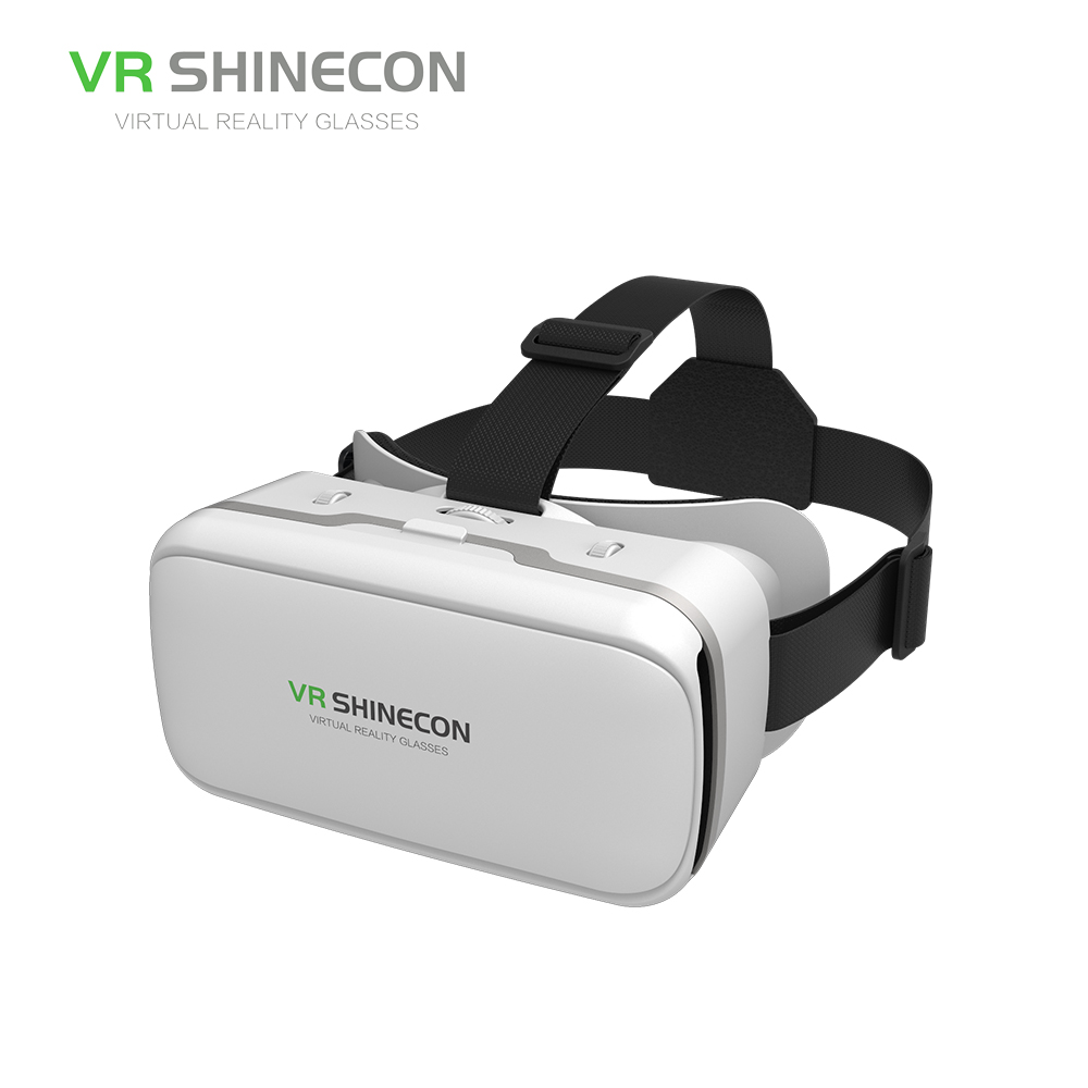 LEORY VR SHINECON SC-G04 Virtual Reality Mobile VR 3D Glasses Headset Cardboard Helmet For 3.5-6 Smartphone VR Games Video Films image