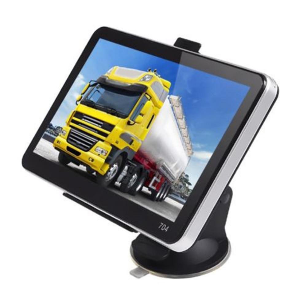 7 Inch 800*480 TFT LCD Display GPS Auto Car Truck Vehicle Portable GPS Navigation Navigator SAT NAV 4GB US Map 5 resistive screen wince 6 0 gps navigator w fm transmitter tf 4gb brazil map black red