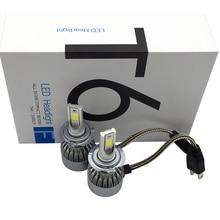 12 В 2X40 Вт 8000LM C6 Superbright COB Чипы LED H7 Фар Автомобиля Conversion Kit Автомобильные СВЕТОДИОДНЫЕ Передние лампы СВЕТОДИОДНЫЕ Лампы H7