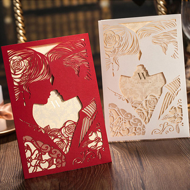 1pcs sample redwhite bride and groom wedding invitation cards 1pcs sample redwhite bride and groom wedding invitation cards greeting cards personalized custom card m4hsunfo