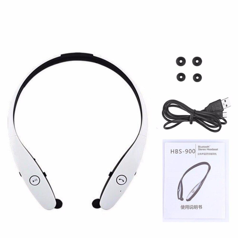 bilder für Neue HBS-900 Drahtlose Nackenbügel Headset Sport Stereo Kopfhörer In-ear-ohrhörer Bluetooth Kopfhörer Für iPhone