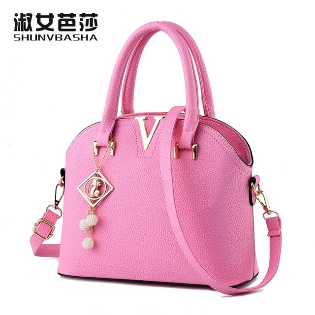 Snbs 100 Genuine Leather Women Handbags 2017 New Trendy Handbag Messenger Shoulder Bag Small Pendant
