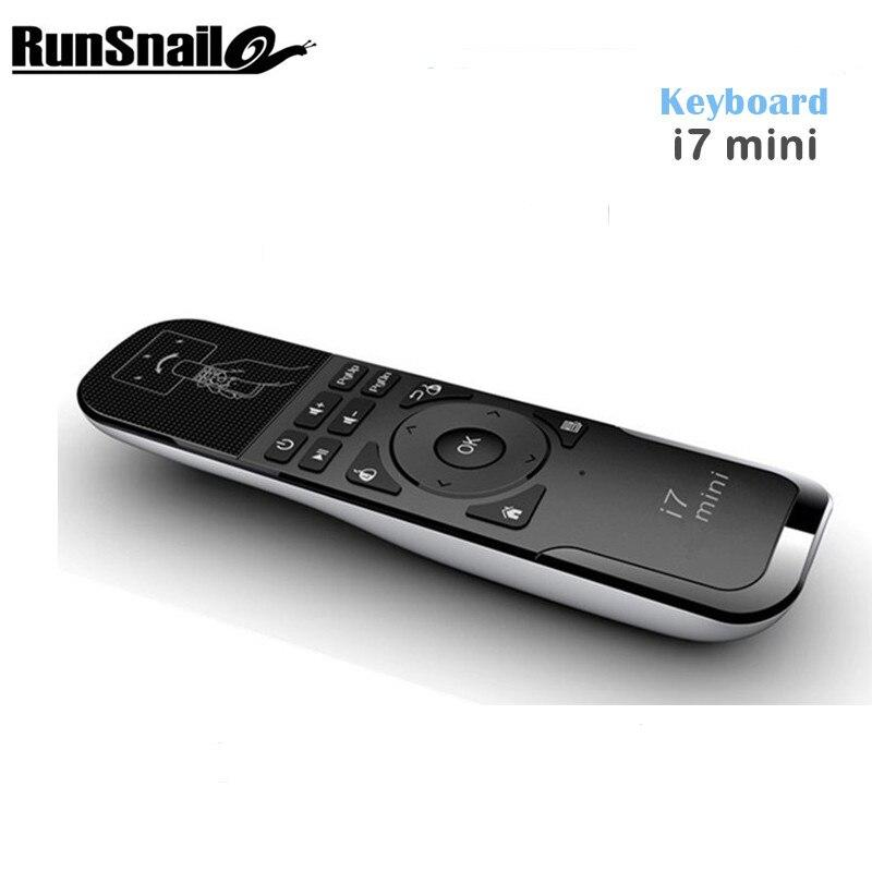 Mini i7 Fly Air ratón USB 2,4 GHz Control remoto inalámbrico para PC/Smart TV/Android TV Box /TV Dongle giroscopio PS3 movimiento
