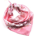 Bandana Satin Small Silk Scarf Square High Quality Ring Scarves Winter Women Lady Shawl Neck 53x53 Sq009