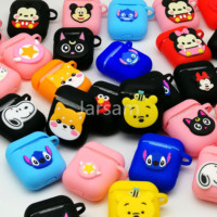 Wholesale medley 50 pcs universal TPU case Cartoon Earphone Case For Apple AirPods 2 Cases For Airpods Protective Cover