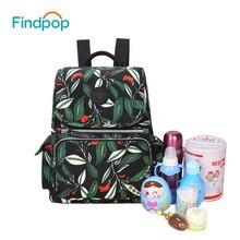 Findpop Vintage Рюкзаки Женские полиэстер большой емкости рюкзак мумия подгузник материнства мешок Мода 2017 г. кормящих сумка для ухода за ребенком