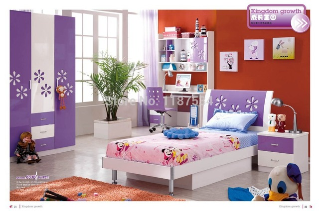 633B# Modern style children bedroom set furniture wooden ...