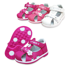 Новая мода 1 пара детская ортопедическая обувь поддержка стопы девушка pu кожаные сандалии детская обувь+ внутренний см