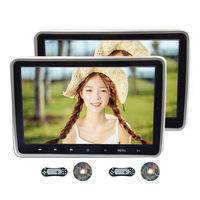 10.1 Car Headrest DVD Player 2 PCS Multimedia MP4 MP5 Video Player HD Screen Monitor with USB SD Slot & FM Transmitter Portable